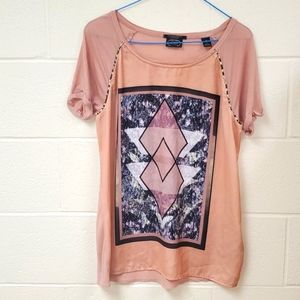 Scotch and Soda Top Front Graphic